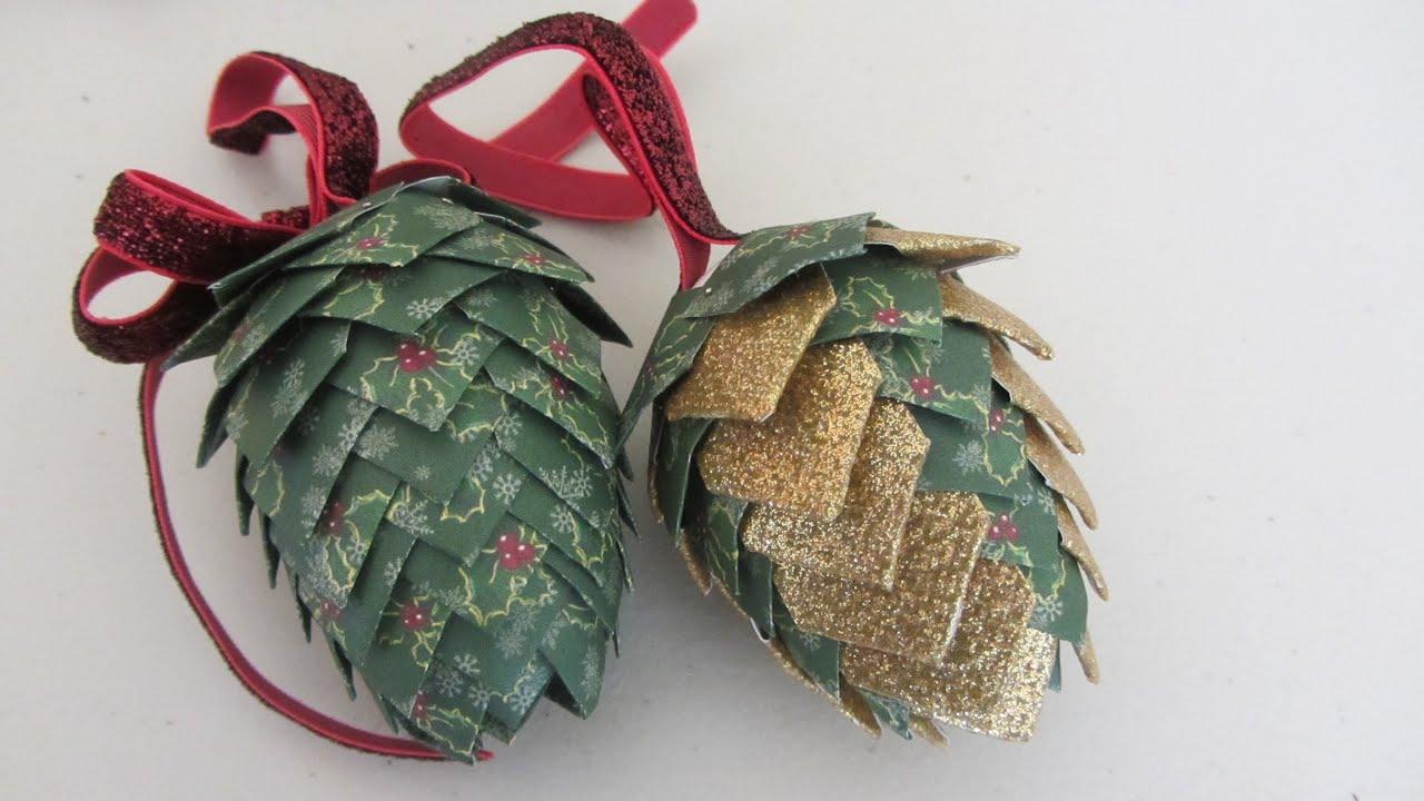 Paper Pine Cone Tutorial Paper Pine Cones Pattern