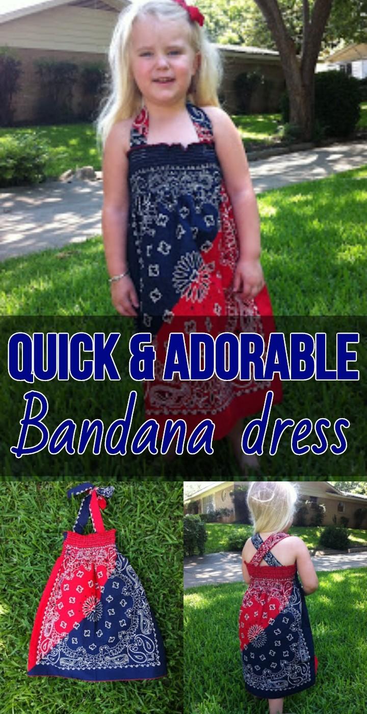 Quick Adorable Bandana dress