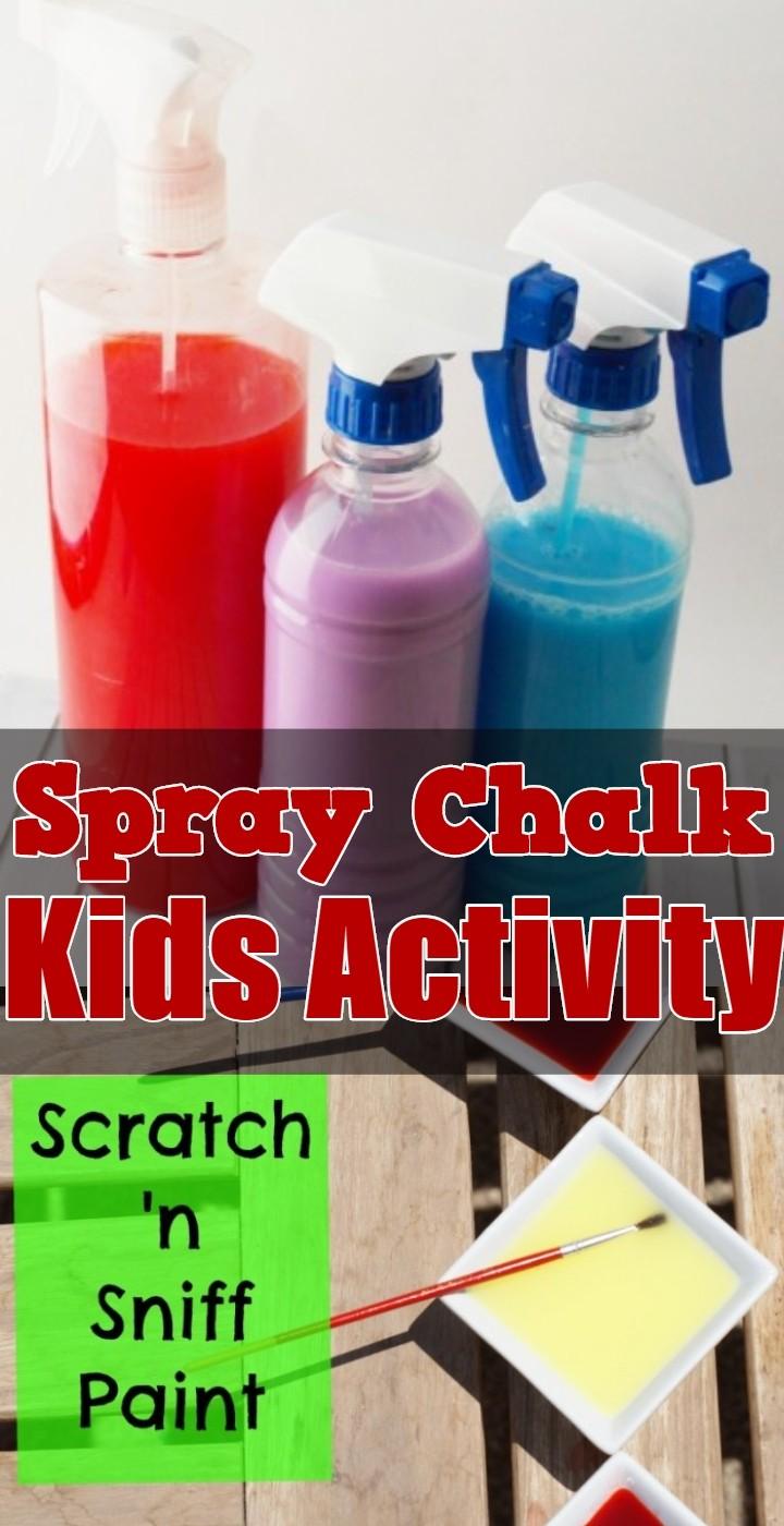 Spray Chalk Kids Activity