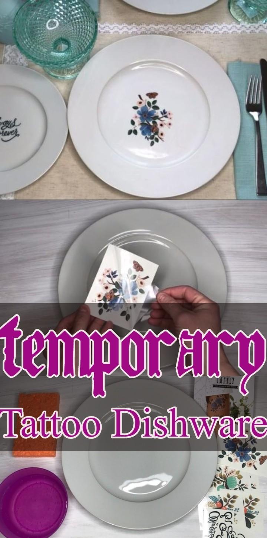 Temporary Tattoo Dishware