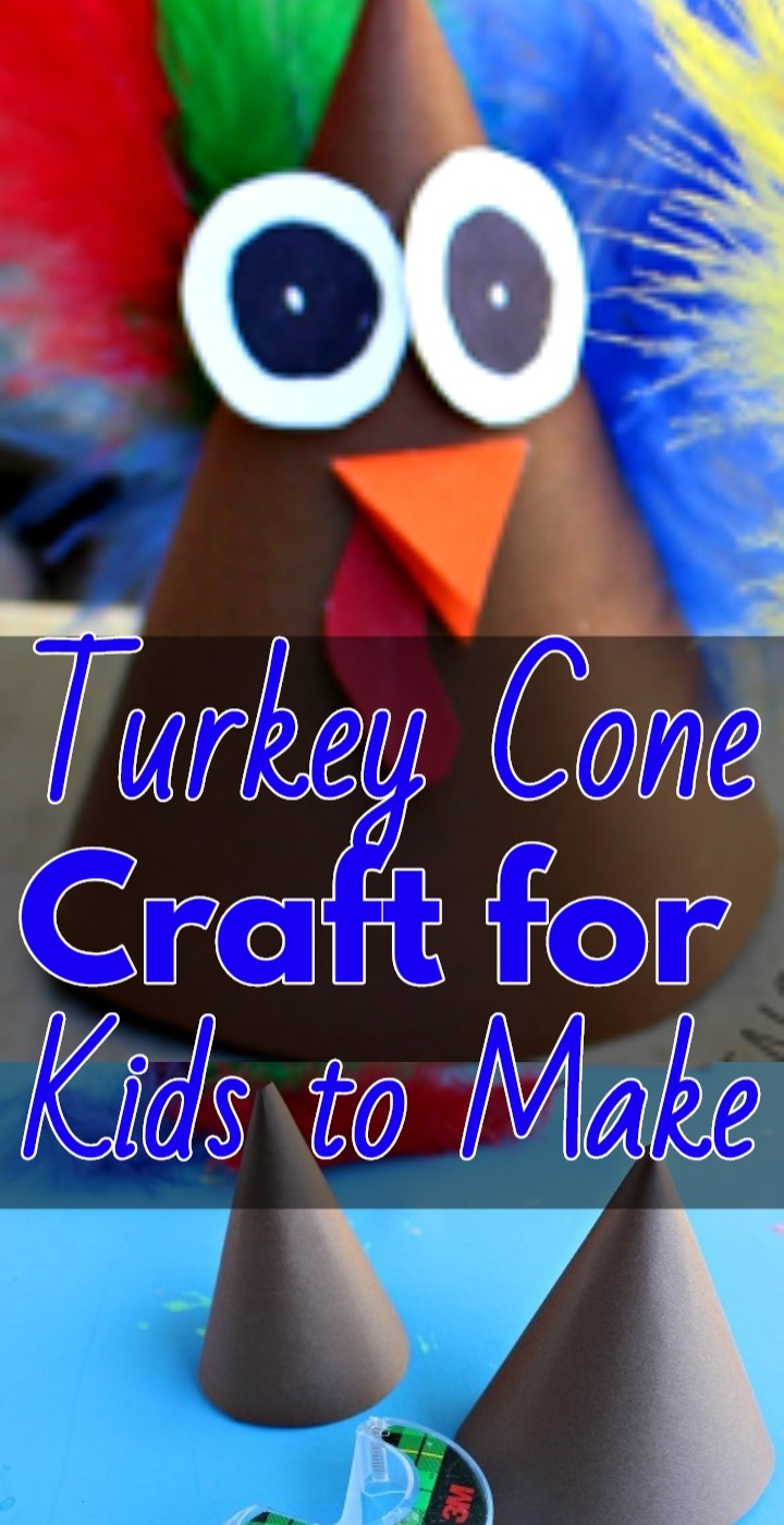 Turkey Cone Craft for Kids to Make