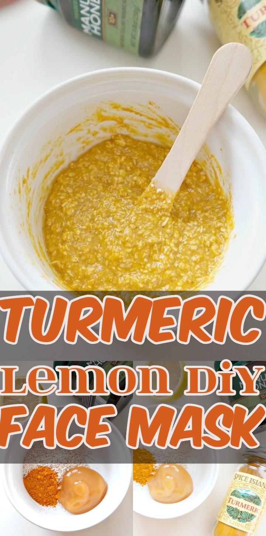 Turmeric Lemon Diy Face Mask
