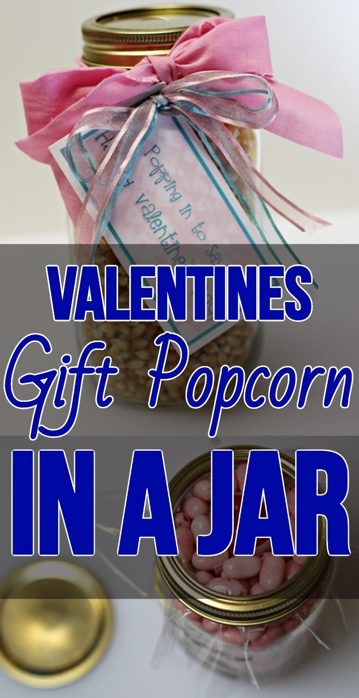 Valentines Gift Popcorn In A Jar