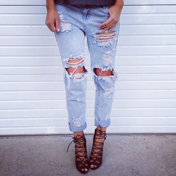 5 DIY Ripped Jeans How To Make Ripped Jeans