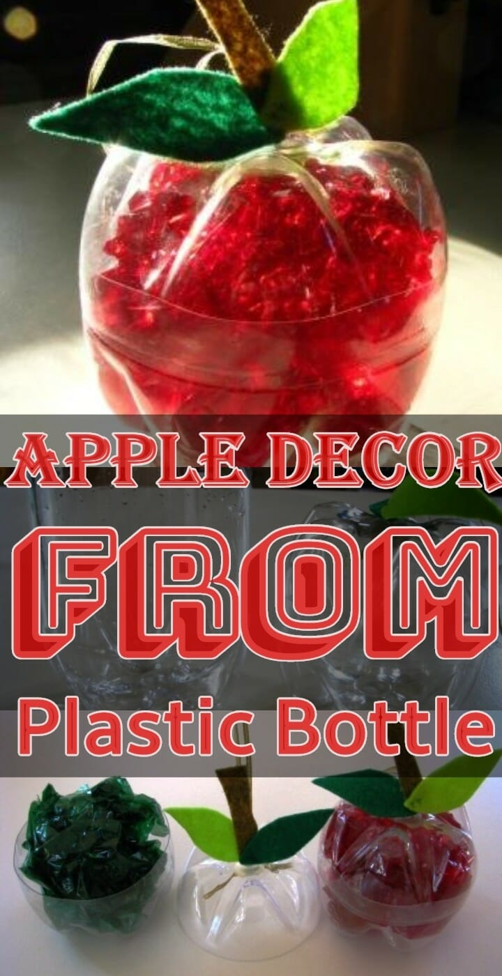 Apple Decor From Plastic Bottle