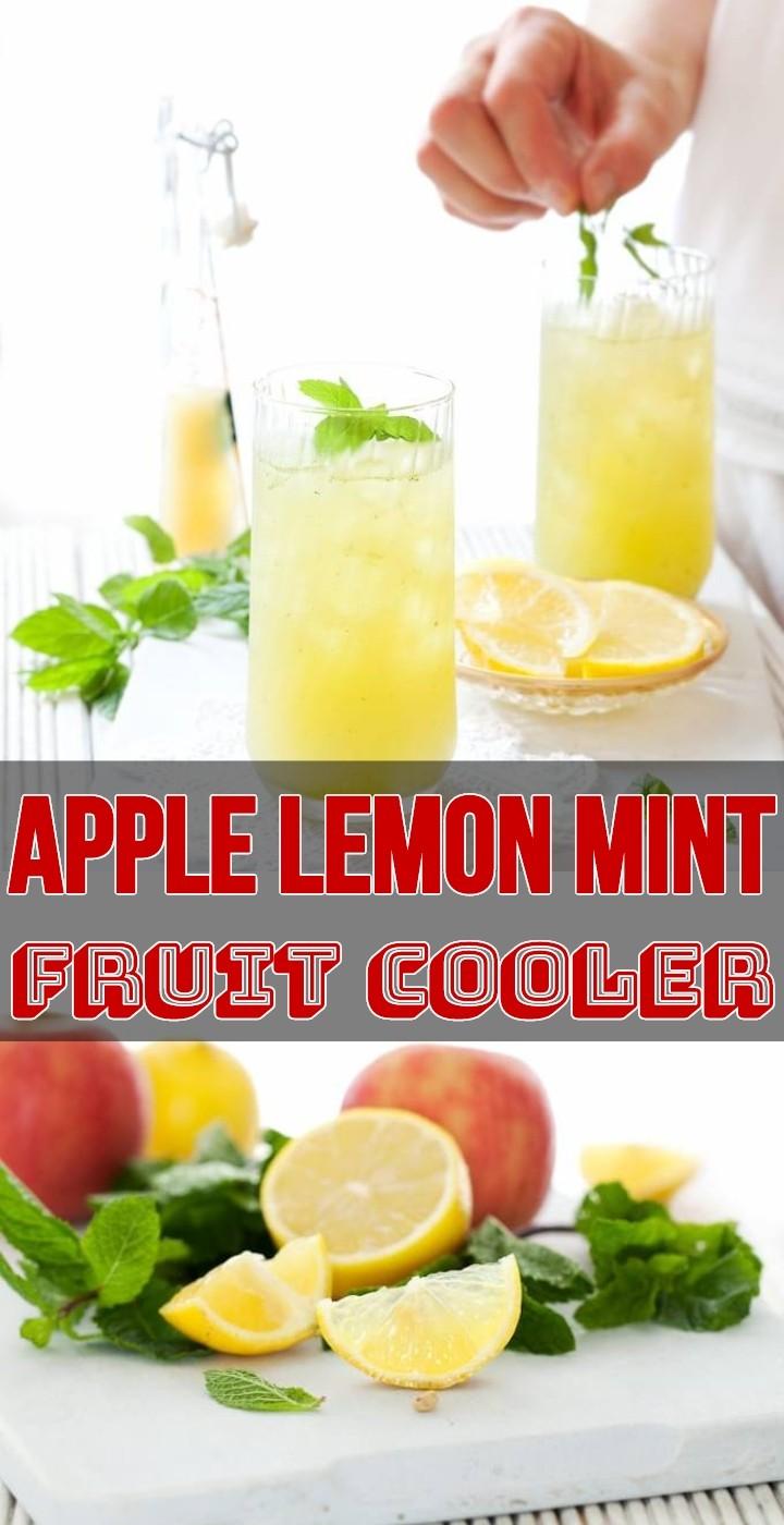 Apple Lemon Mint Fruit Cooler