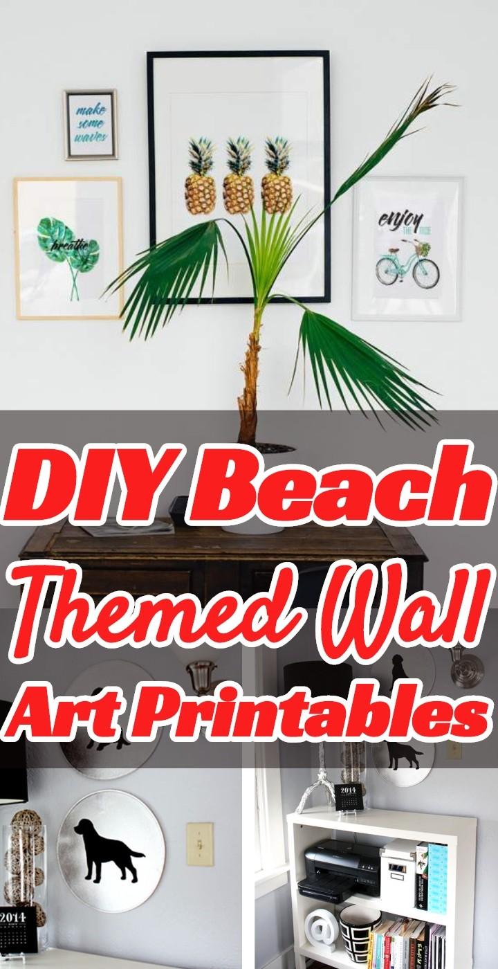 DIY Beach Themed Wall Art Printables