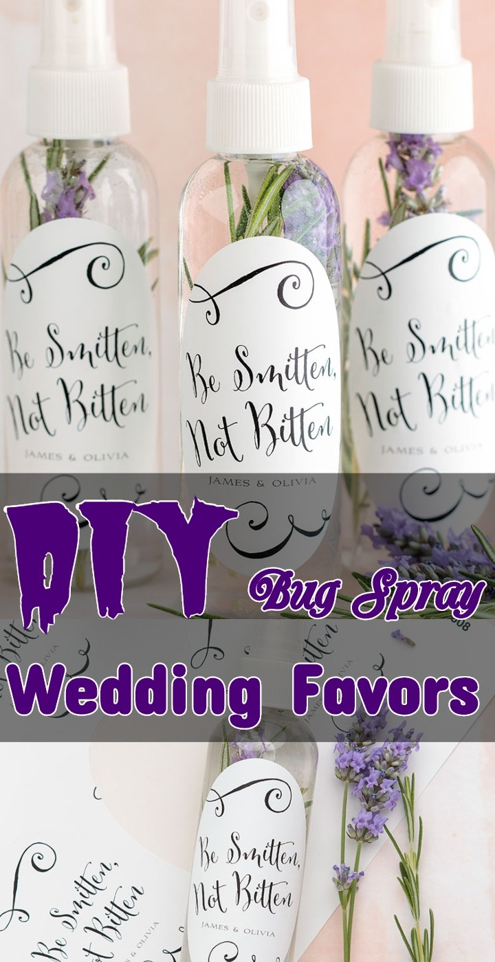 DIY Bug Spray Wedding Favors