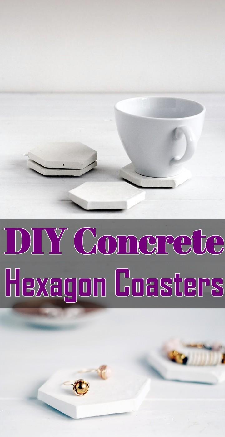 DIY Concrete Hexagon Coasters