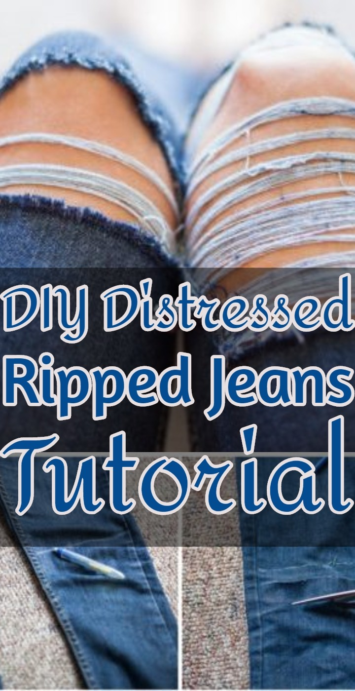 DIY Distressed Ripped Jeans Tutorial