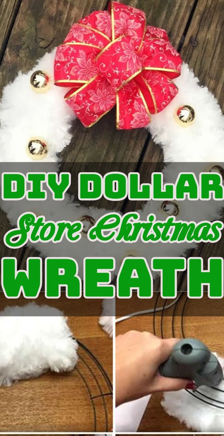 DIY Dollar Store Christmas Wreath