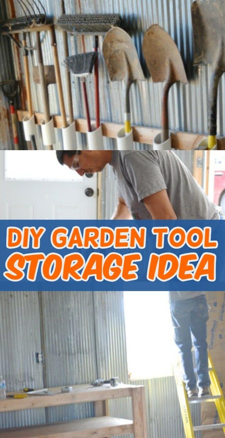 DIY Garden Tool Storage Idea