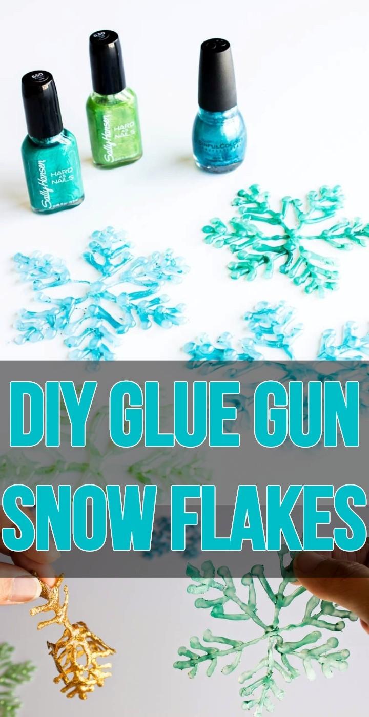 DIY Glue Gun Snow Flakes