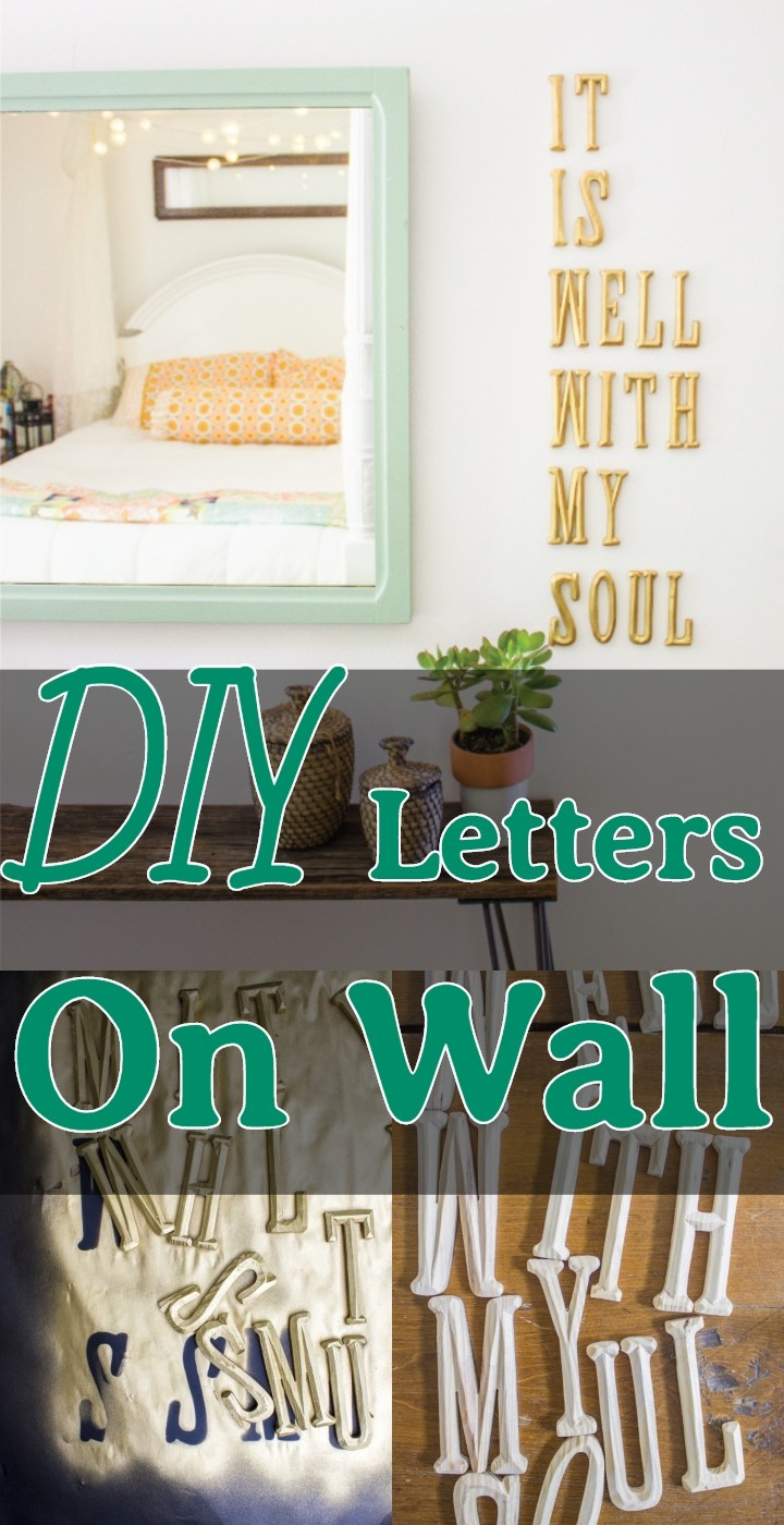 DIY Letters On Wall
