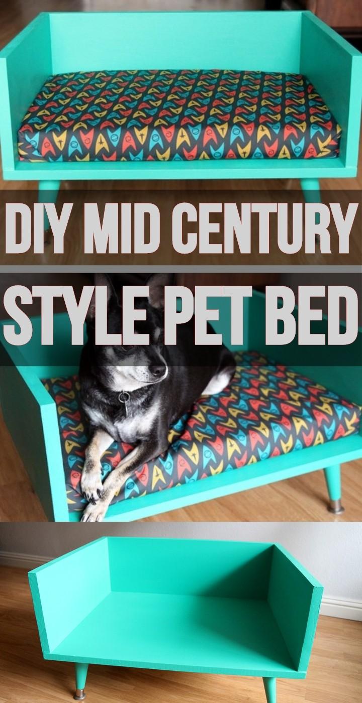 DIY Mid Century Style Pet Bed