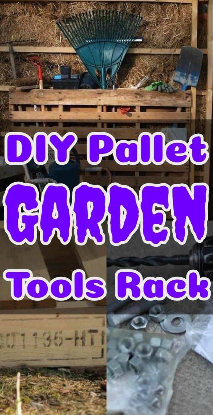 DIY Pallet Garden Tools Rack