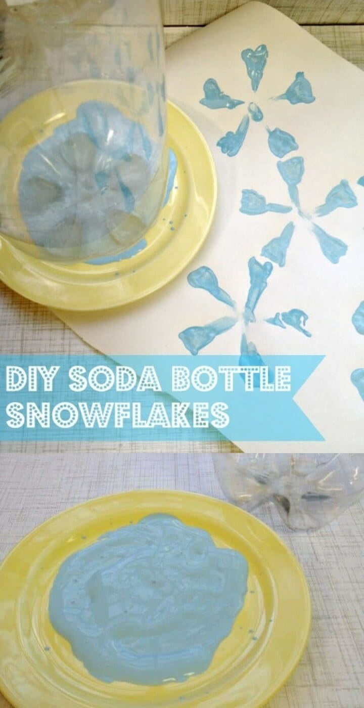 DIY Soda Bottle Snowflake