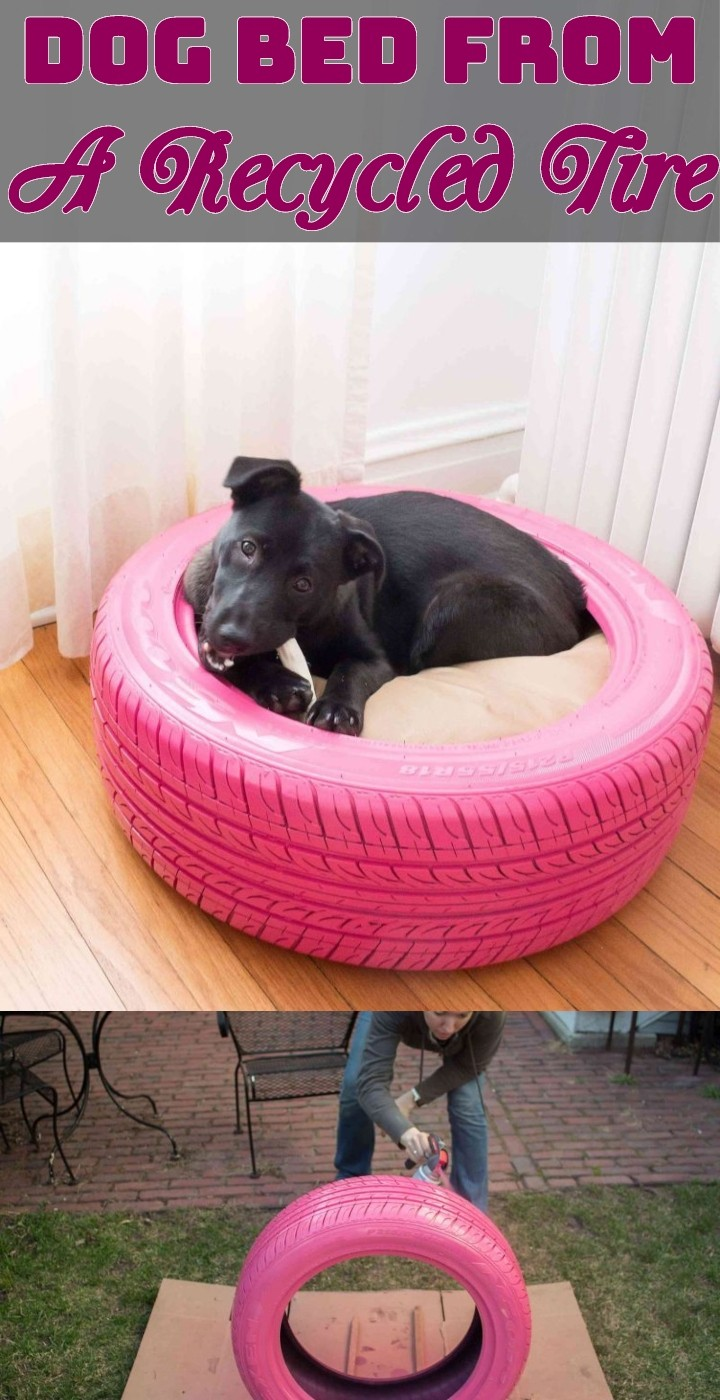 Dog Bed From A Recycled Tire