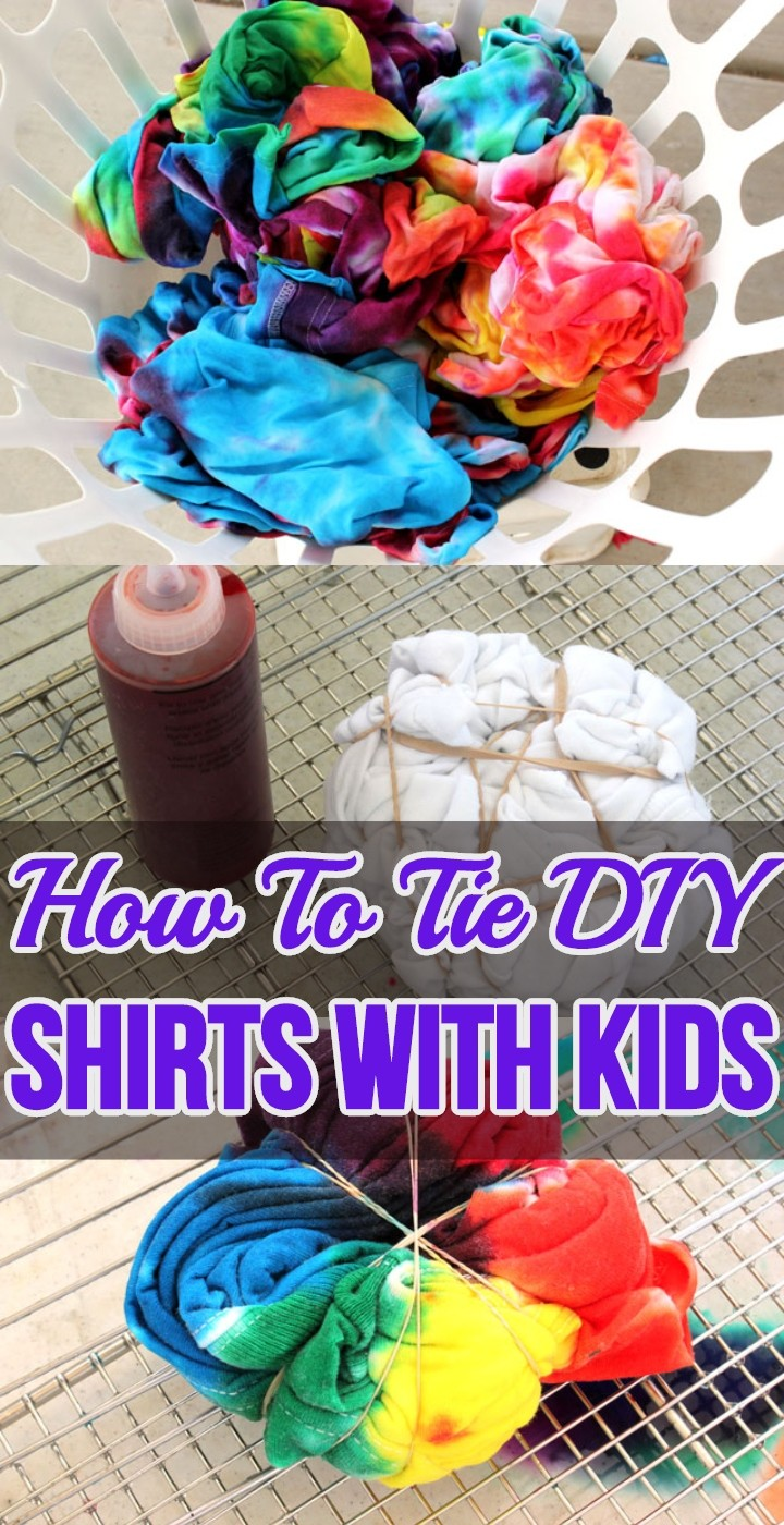 How To Tie DIY Shirts With Kids
