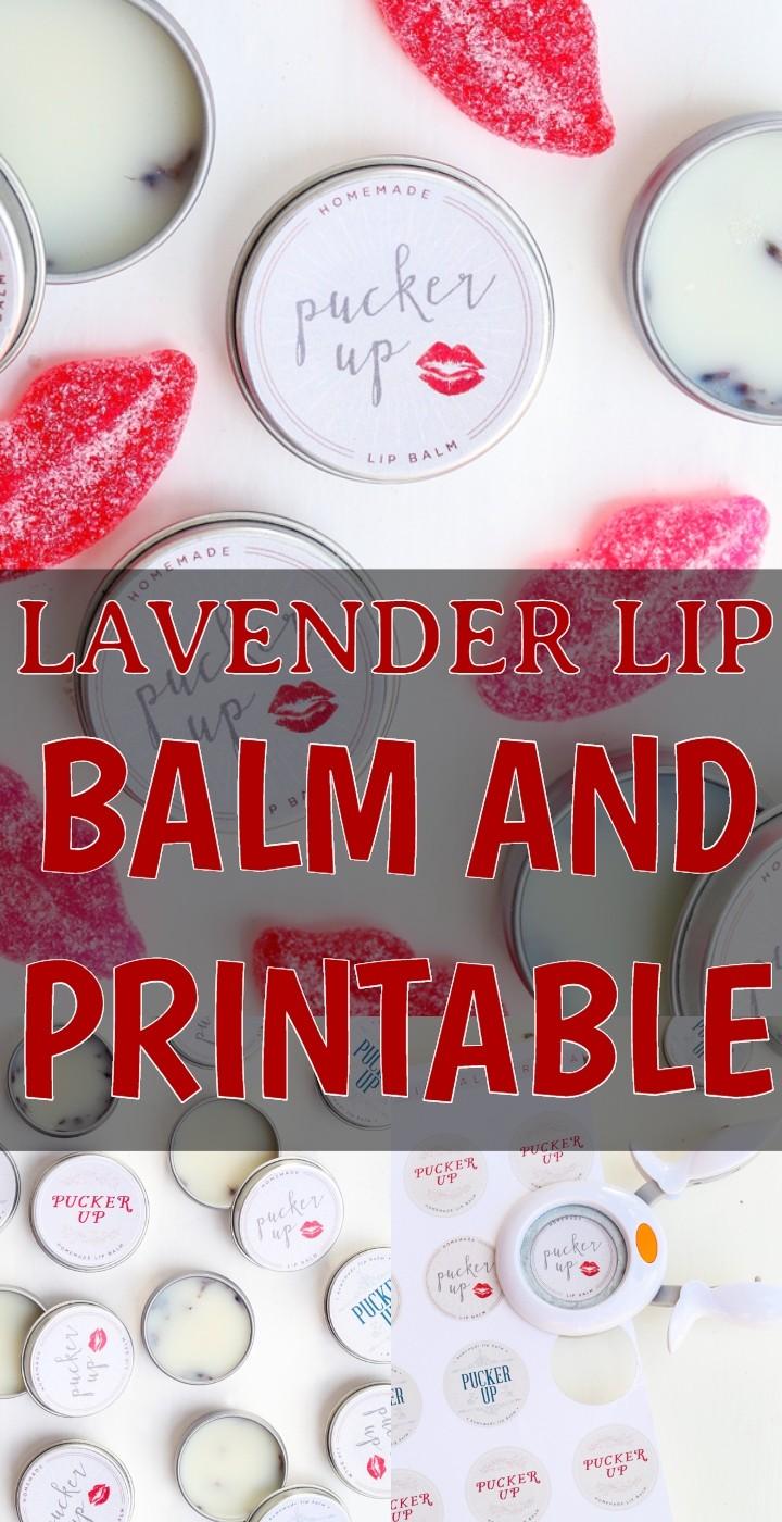 Lavender Lip Balm And Printable