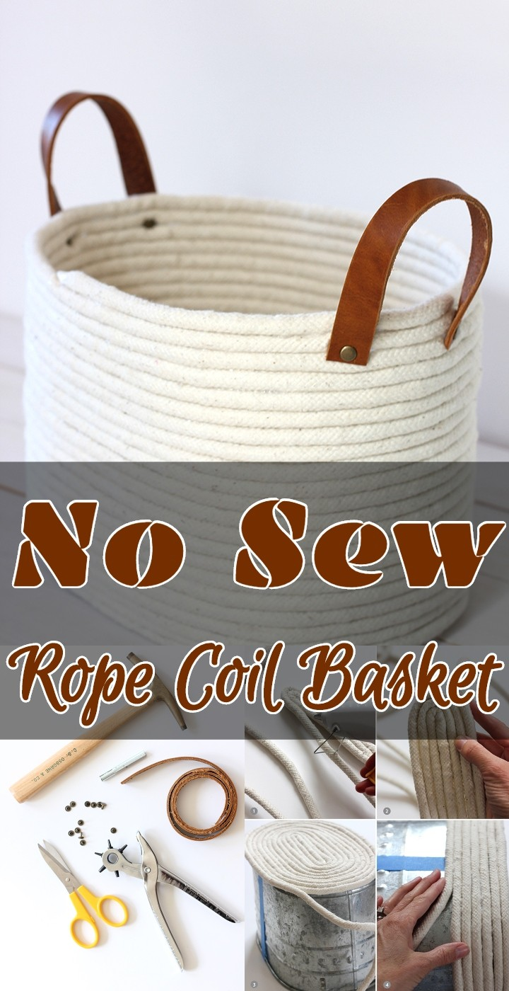 No Sew Rope Coil Basket