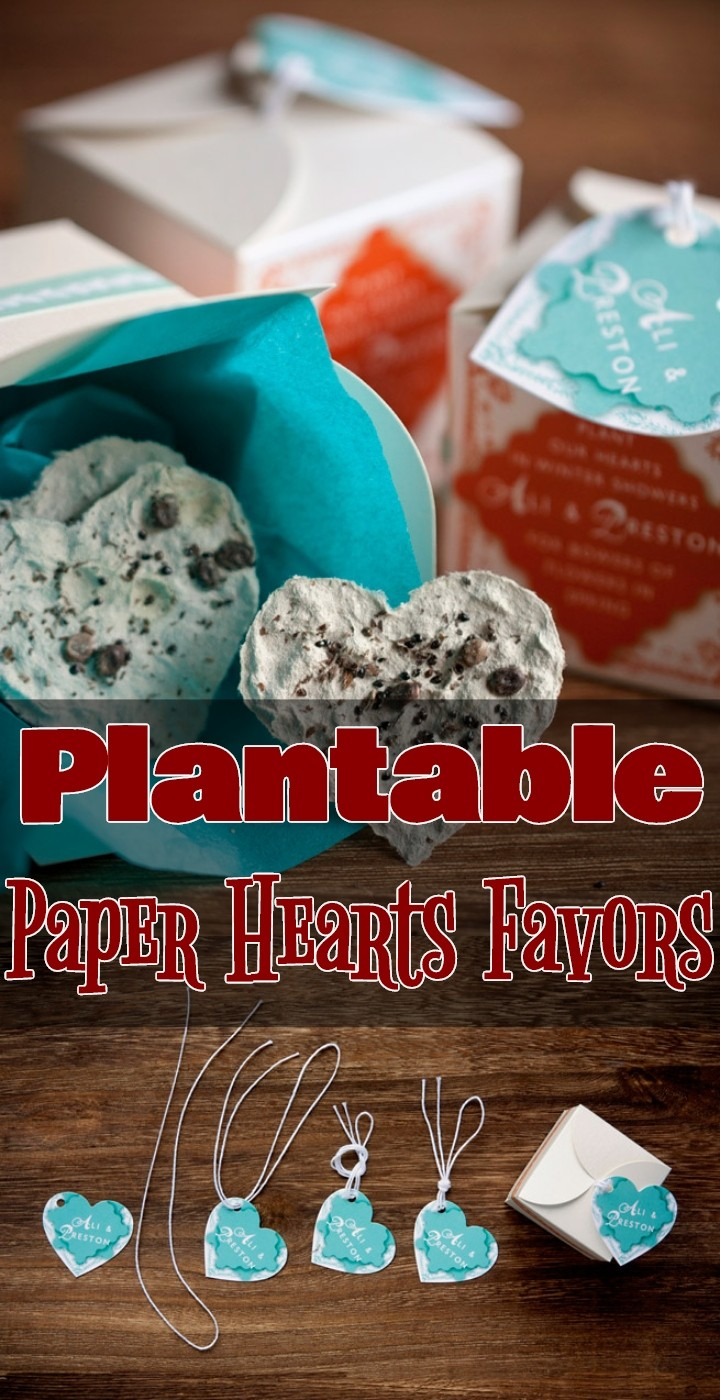 Plantable Paper Hearts Favors