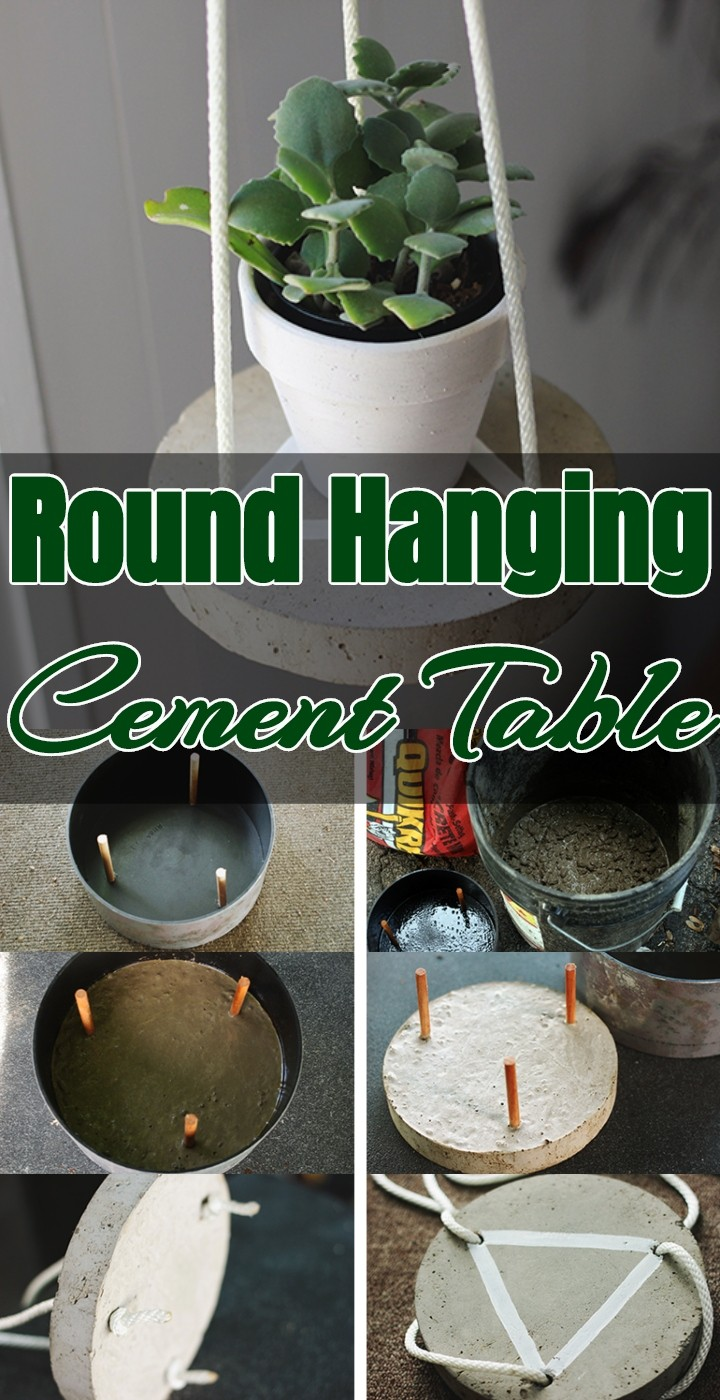 Round Hanging Cement Table