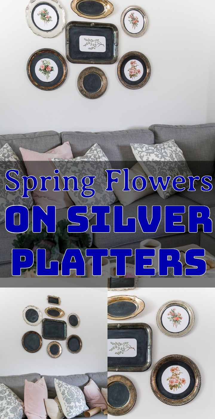 Spring Flowers on Silver Platters