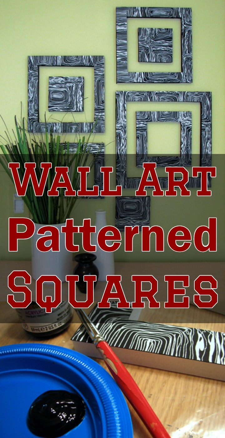 Wall Art Patterned Squares