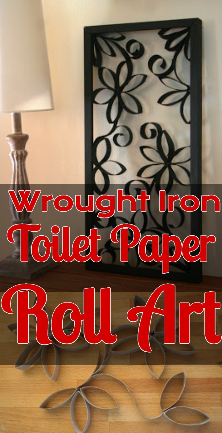 Wrought Iron Toilet Paper Roll Art