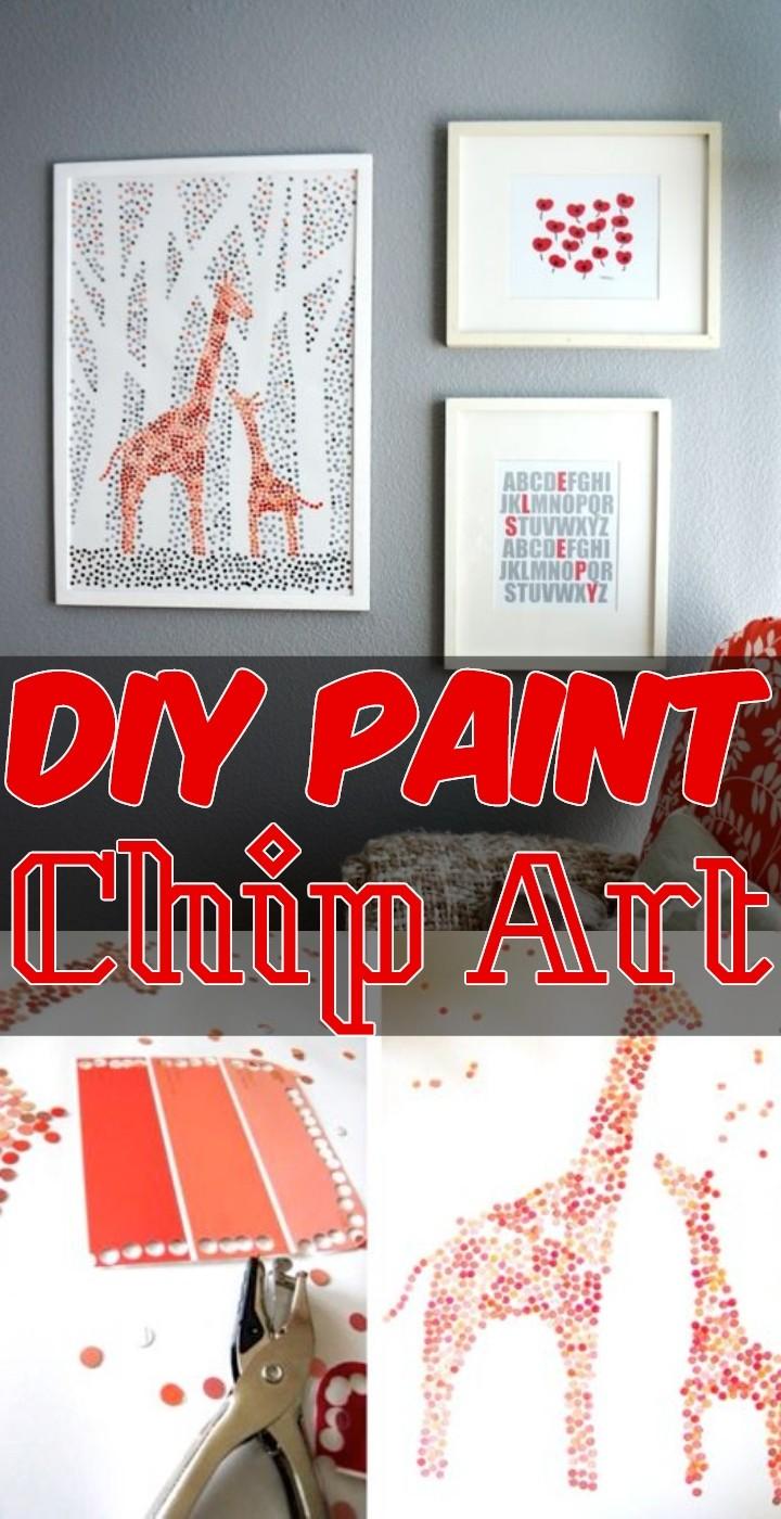 DIY Paint Chip Art