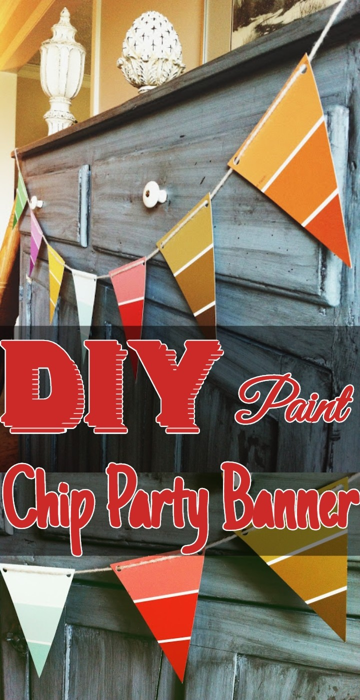 DIY Paint Chip Party Banner