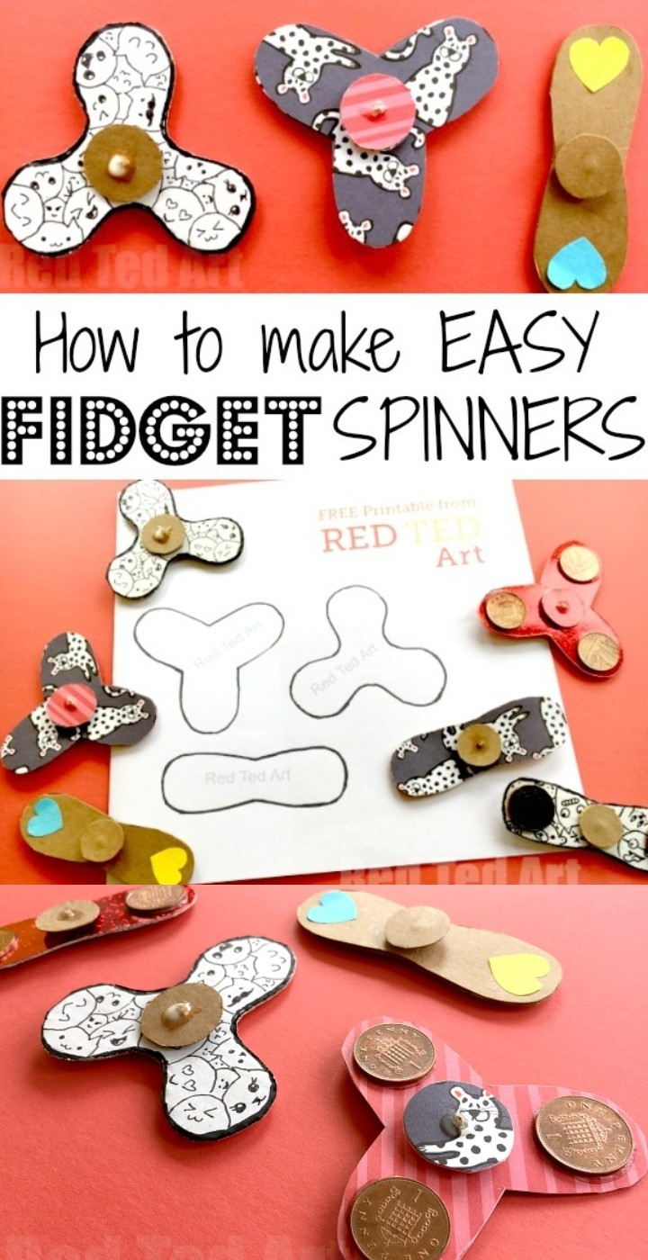 How To Make Easy Fidget Spinner