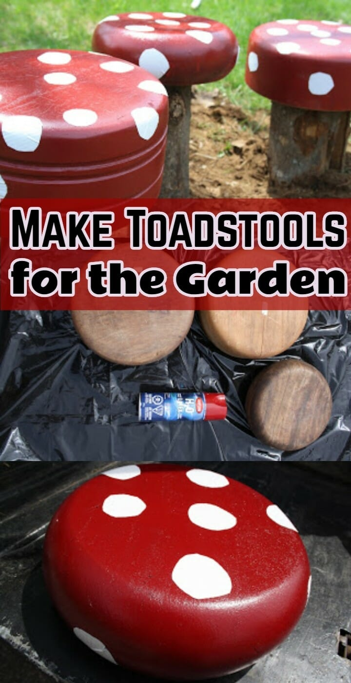 Make Toadstools for the Garden