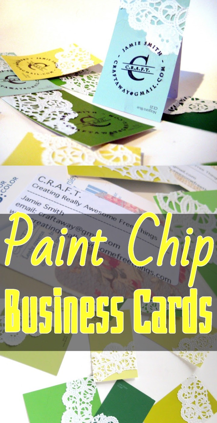 Paint Chip Business Cards