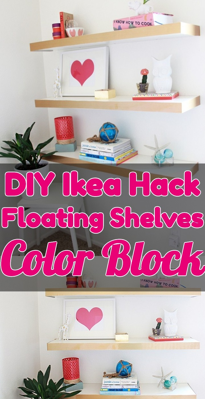 DIY Ikea Hack Floating Shelves Color Block