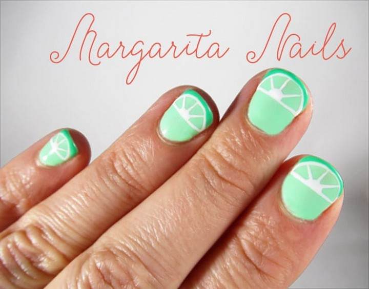 DIY Nail Art Margarita Inspired