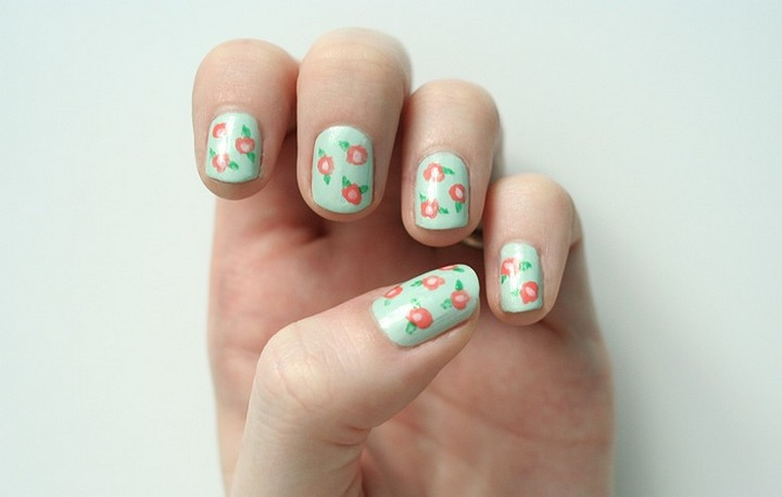 DIY Spring Nail Art Design