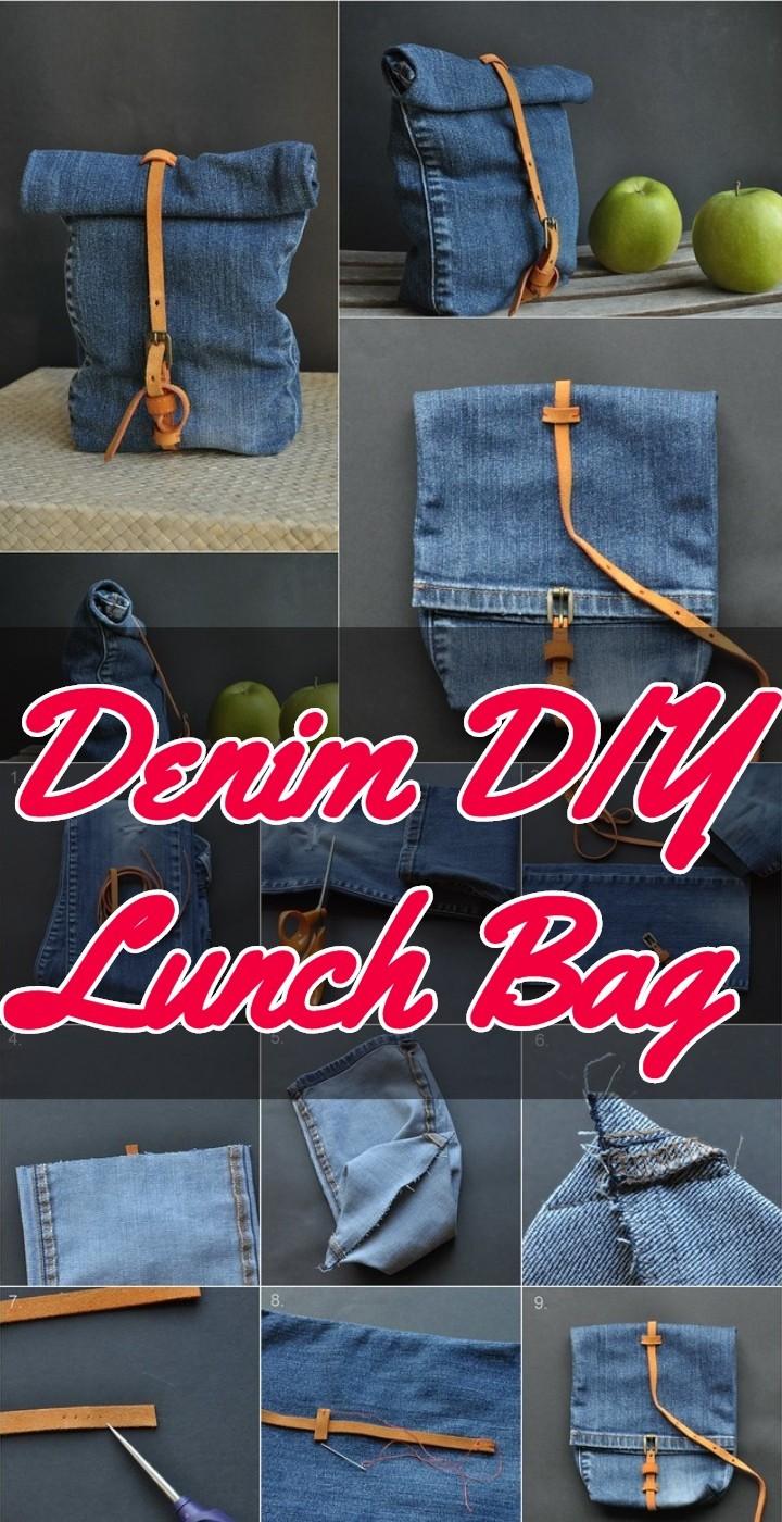 Denim DIY Lunch Bag