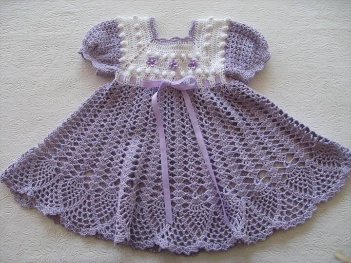 Easy Crochet Baby Dress