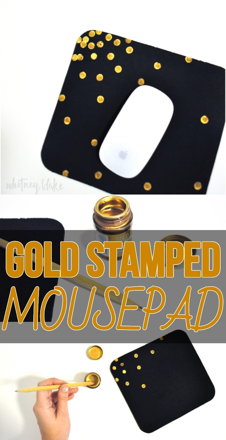 Gold Stamped Mousepad