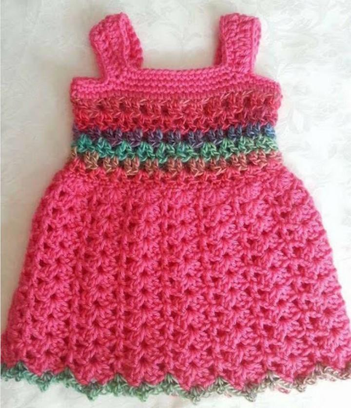 How To Make Crochet Baby Dress