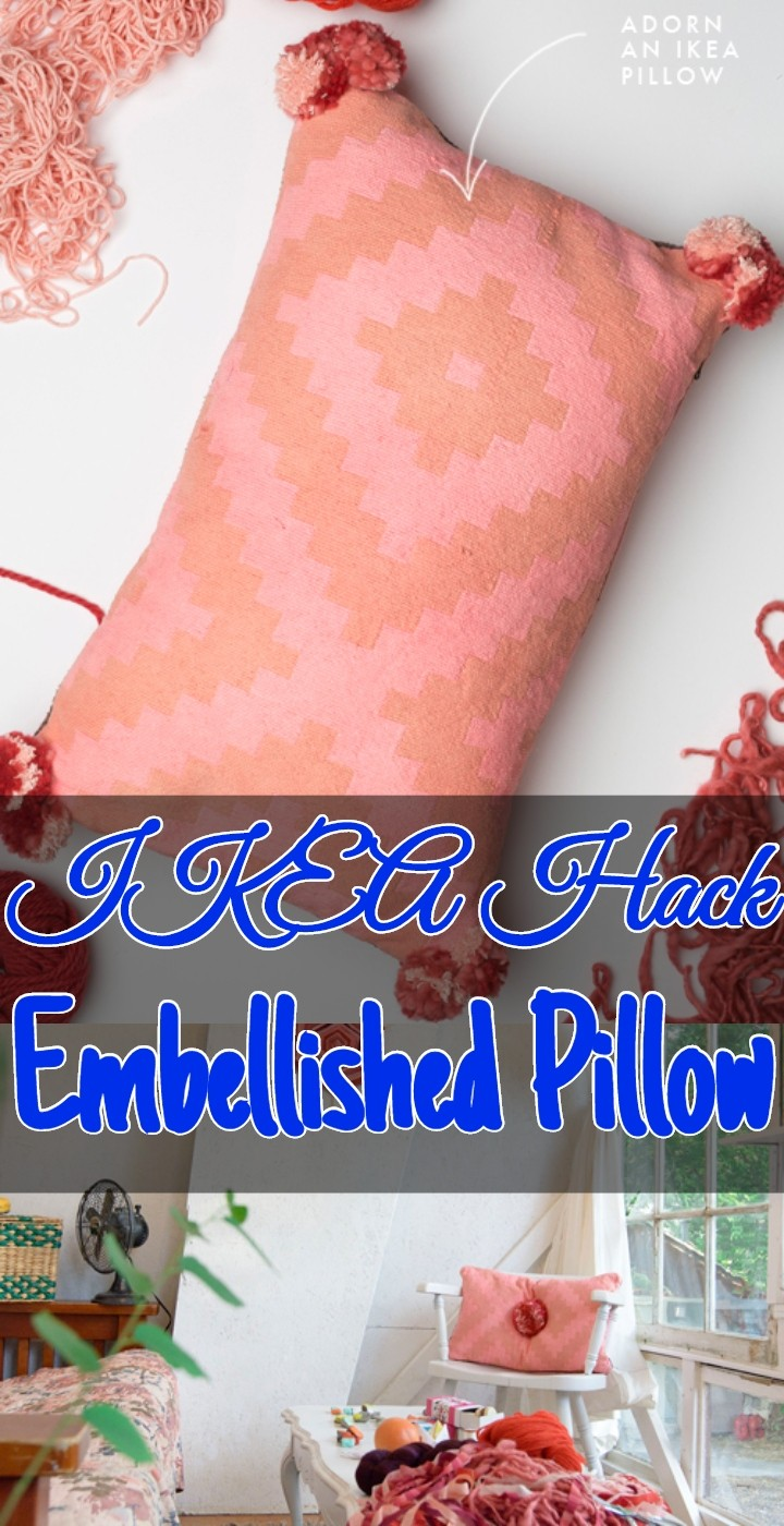 IKEA Hack Embellished Pillow
