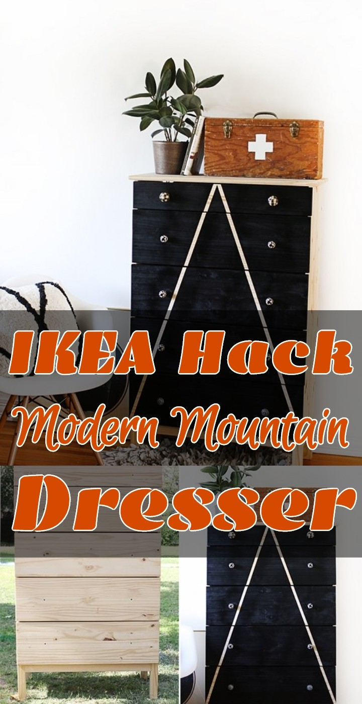 IKEA Hack Modern Mountain Dresser