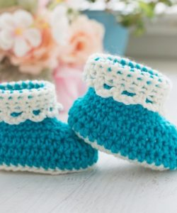 Quick And Easy Baby Booties Crochet Pattern