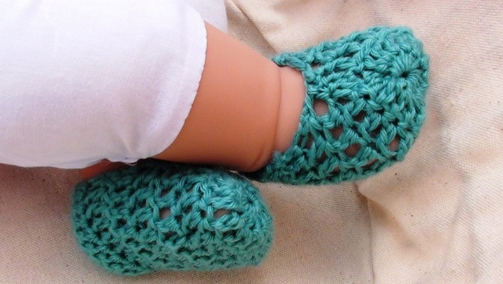 Summer Crochet Baby Booties Pattern