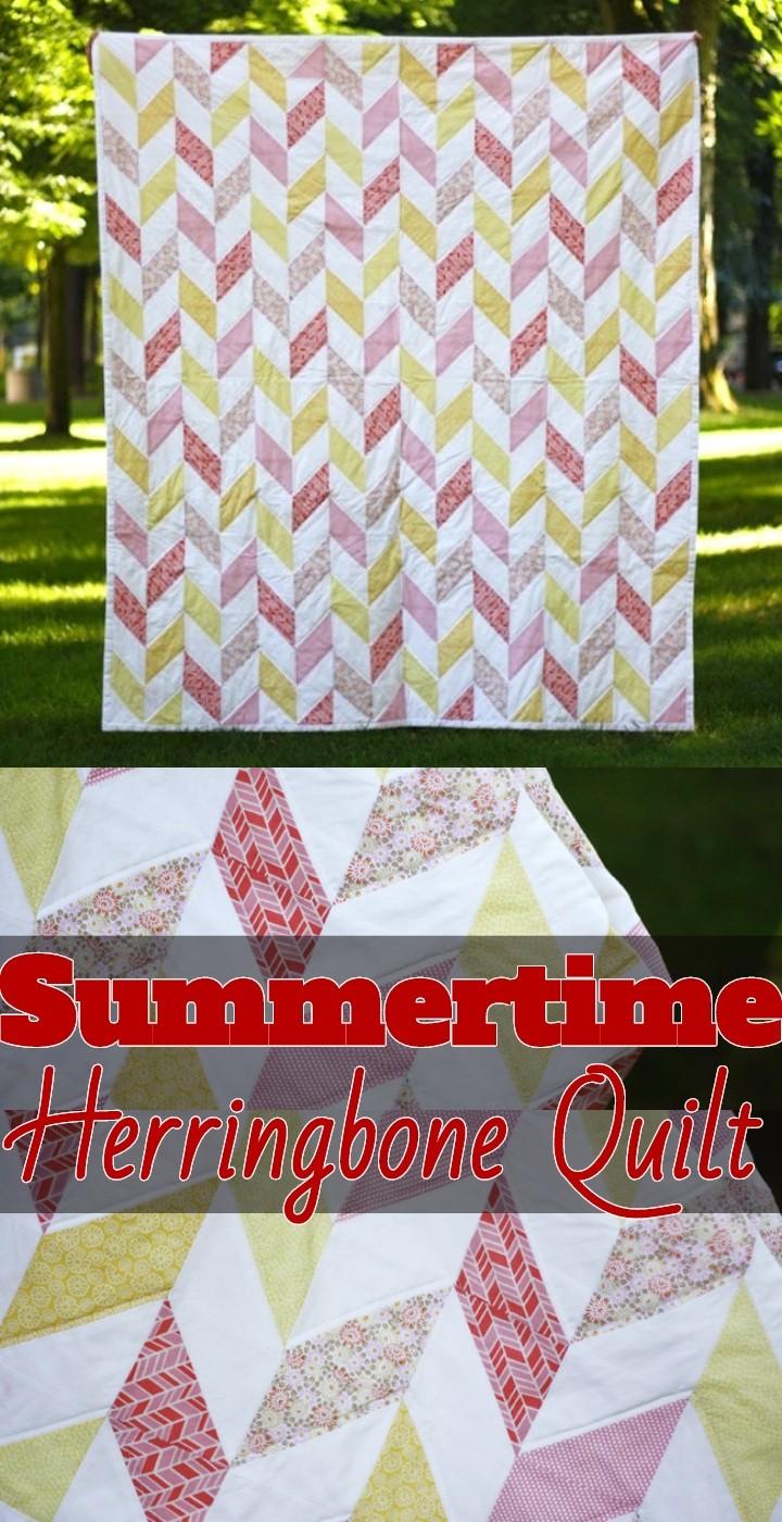 Summertime Herringbone Quilt