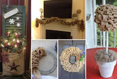 20 DIY Burlap Ideas Gorgeous Delightful