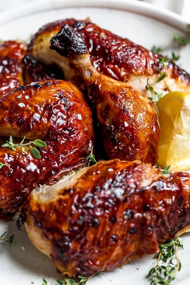 Buttermilk Marinated Air Fryer Whole Roasted Chicken