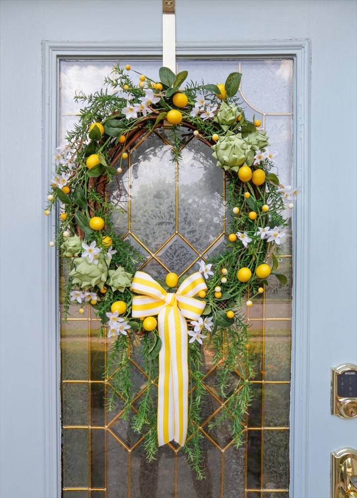 DIY Artichoke Lemon Wreath